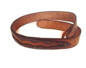 Vintage Men's Leather Belt, Layered Leather, Rocker Belt  size 32