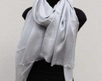 Silk Cashmere Scarf - Dove Grey