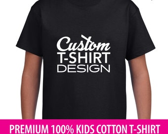 Kids Personalised T-Shirt Design (Logo, Text or Digital) - Any position, front & back or both