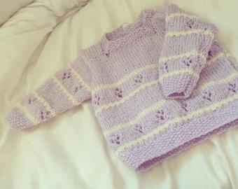 Hand knitted jumper - 9-12 months