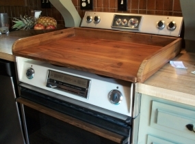 Reclaimed wood - Stovetop Cover [TC127]