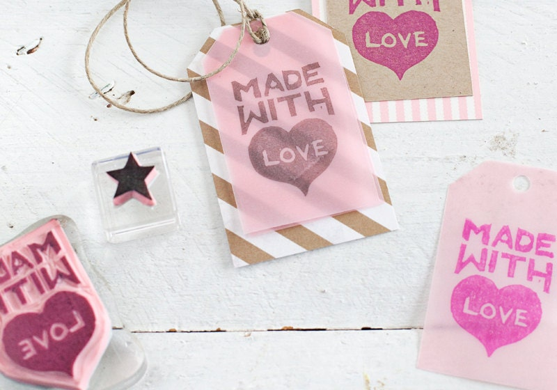 DIY Stamp Carving for Holiday Packaging by A Beautiful Mess