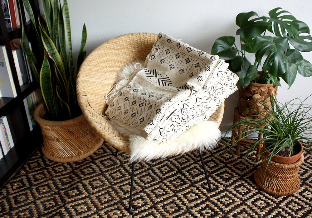 Mud cloth wall hangings by Norwegian Wood