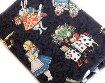 Kindle Paperwhite cover - Alice in Wonderland - vintage Alice illustrations eReader hardcover - fits Touch, Basic - White Rabbit - case