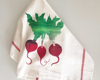 Beets Bunch tea towel