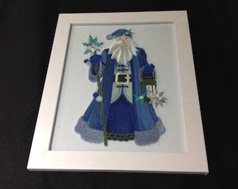 Blue Christmas Santa
