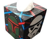 Star Wars Tissue Box Holder Geekery Hand Painted by Debbie Is Adopted