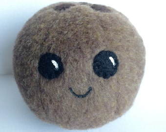 Coconut Plush / Kawaii Plush / Play Food / Kids / Stuffed Animal / Fruit / Pretend Play / Toy / Gift / Pincushion