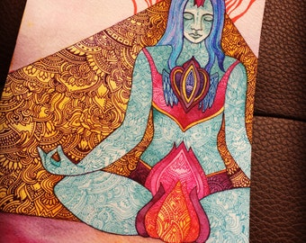 Calm  Original Watercolor by Megan Noel