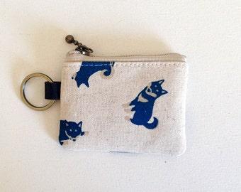 Key/coin purse - shiba-inu