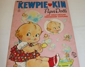 HALF OFF Kewpie, paper dolls, punch out Kewpie paper dolls, vintage paper dolls, Kewpie ephemera, Kewpie 1987 punch out paper dolls