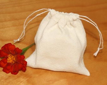 small drawstring gift / storage bag - eco friendly 100% hemp and organic cotton