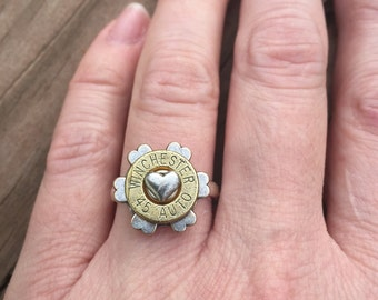Lovers Ring with 45 Auto, Bullet Ring, Bullet Jewelry, Women's Ring