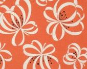 Denyse Schmidt Katie Jump Rope Orange Ribbon Floral cotton quilt fabric - fat quarter