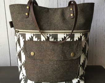 Caravan Tote - Brown Nomad - MADE TO ORDER