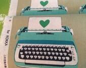 Melody Miller Ruby Star Shining - Typewriter - Cotton Linen Fabric
