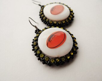 Football Shell Earrings