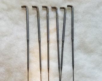 CRAZY Felting Needles 42 gauge crown point felt needle 6 pack color coded