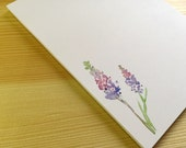 Floral Notepad Stationery - Watercolor Flower Notepad - Personalized or Blank Handmade Larkspur Notepad - 40 Sheet Notepad