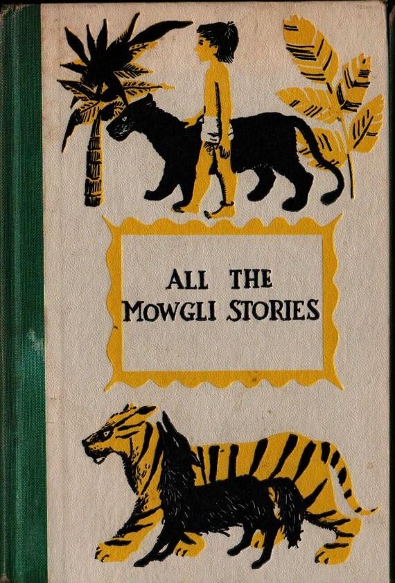 All the Mowgli Stories Junior Deluxe Edition - Rudyard Kipling - Richard M. Powers - 1956 - Vintage Kids Book