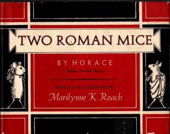 Two Roman Mice - Horace - Marilynne K. Roach - 1975 - Vintage Kids Book