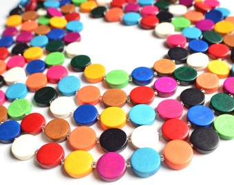 The Charlotte- Multi Color Wood Statement Necklace