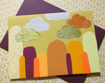 Gold Clouds Overhead (Autumn Mountains) // Cards For All Occassions