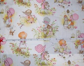Vintage holly hobbie fabric
