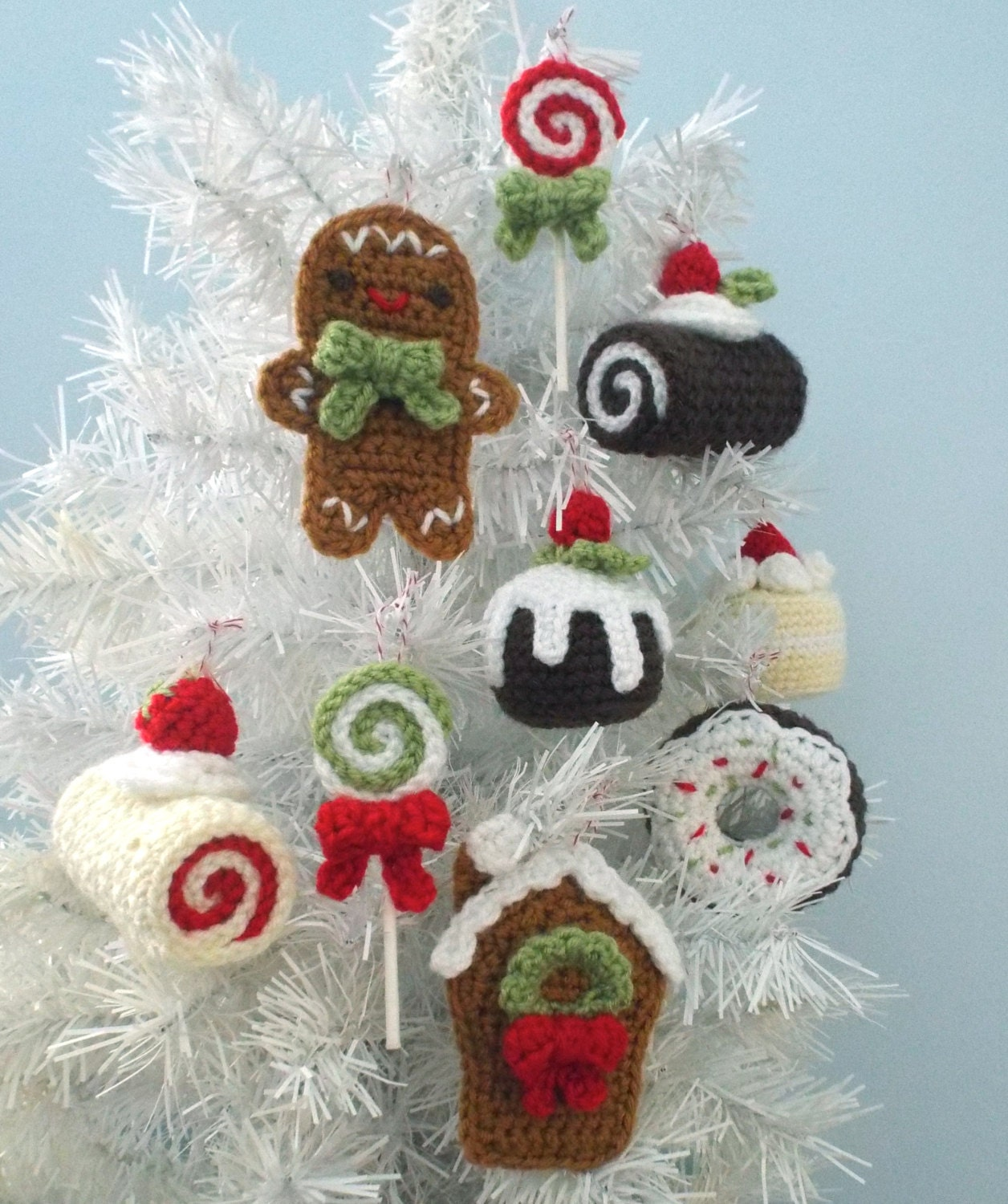 Amigurumi Crochet Christmas Sweets Ornament Pattern Set