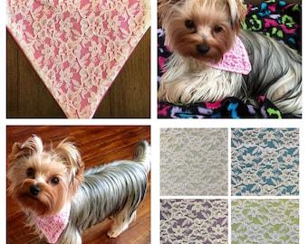 Custom Lace Pet / Dog Bandana