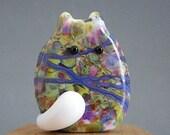 Cat Bead Handmade Lampwork Focal - Fern FatCat