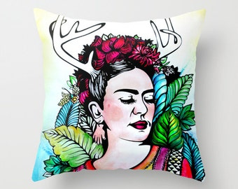 Frida Kahlo Throw Pillow 16 x 16