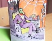 Dream Date Halloween greeting card by Johanna Öst