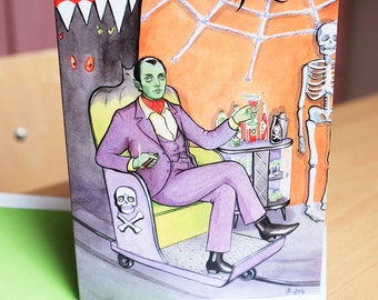 Dream Date Halloween greeting card by Johanna Öst