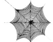 spider web Red Rubber Stamp-Original design 02207, halloween rubber stamp, spider web rubber stamp