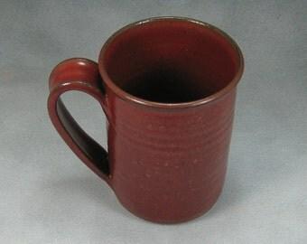 Red Ceramic Coffee Mug Coffee Cup Pottery Coffee Mug 16 Ounce  Hand Thrown Stoneware Pottery 18