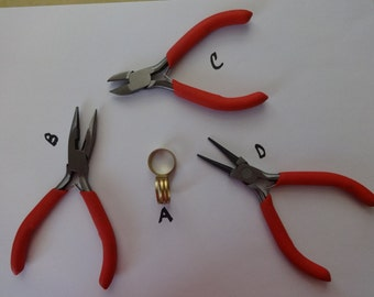 US Shipper - Jewelry or Beading Tools - Jump Ring Opener, Chain Nose Pliers, Round Nose Pliers and Side Wire Cutter Pliers