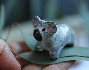 Clay Koala - Koala cake topper - Birthday topper - Koala wedding cake topper -Koala Bear - Miniature Koala - Animal Cake topper