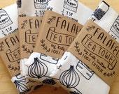 Falafel recipe tea towel