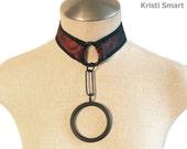 Modernist slave collar iron ring choker