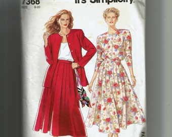 Simplicity Misses' Skirt and Jacket Pattern 7368