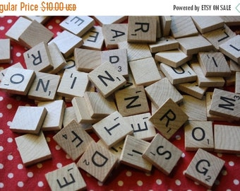 40% FLASH SALE- Wooden Scrabble Pieces -Alphabet Game Pieces