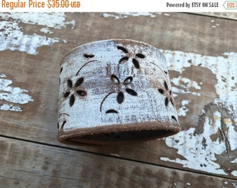 40% FLASH SALE- Custom Leather Cuff-Create Your Own--Word Cuff-Tooled Leather