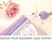 Customised Wedding cake topper birds  - Information listing only