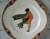 1920's Tally Card Lady Vintage Ornamental Wall or Table Display Heirloom Plate RESERVED (10)