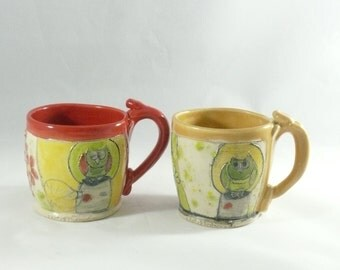 Ceramic Espresso Cup, Handmade pottery mug, Small coffee cup, Teacup, Ceramic Tea Cup, Unique Coffee Mugs,