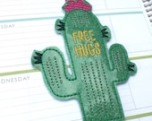 Cactus Planner band ~ Free Hugs Planner band ~ Cactus bookmark ~ Free Hugs bookmark ~ succulent bookmark
