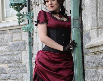 La Contessa Custom Made Gothic Wedding Gown