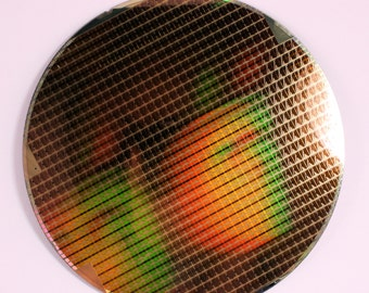"200mm (8"") Silicon Wafer With Amazing Chip Patterns"