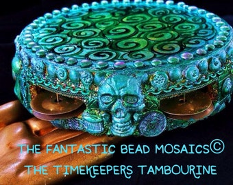 The Fantastic Bead Mosaic© Music series The Timekeepers Tambourine
